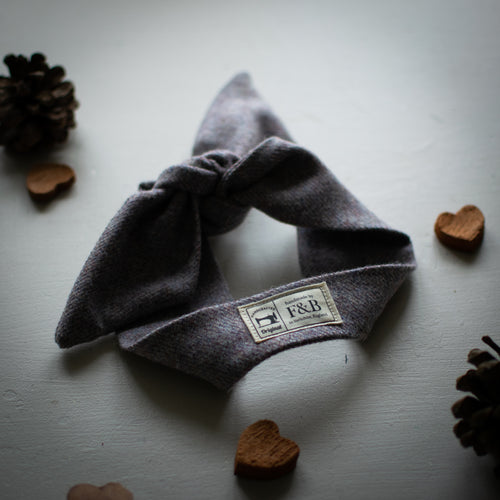 Lilac Tweed Knot Headband Handmade by F&B in Yorkshire - vintage style country clothing