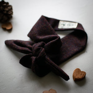 Burgundy Tweed Headband - Vintage Style Hair Accessories Handmade by F&B in Yorkshire