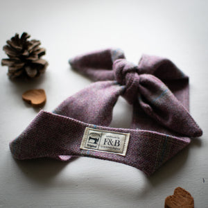 Light Purple and Pink Tweed Headband handmade by F&B - Yorkshire Tweed - Rosefinch Vintage Style Headband
