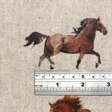 Watercolour Linen Wild Horses Fabric