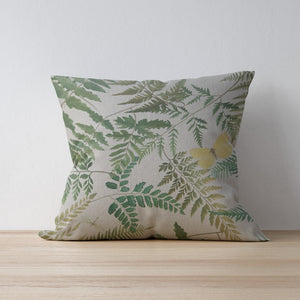 Fern Print Cushion - Fabric by Clarke and Clarke - handmade country home decor