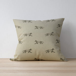 Woodland Friends Fox Cushion - Handmade in Yorkshire - F&B international - Feversham Country Print Cushions for Country Homes