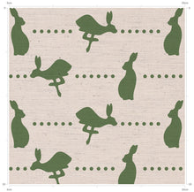 Hovingham Green Hare Print Fabric - Designed by F&B - Inspired by country living - Perfect nursery of county home decor