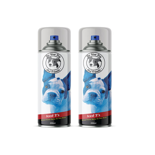 The Blue Dog & Friends - Iced 2's - Poo Freezing Spray for Dog Walks - Making Poo Easier to Dispose of - Freezer Spray