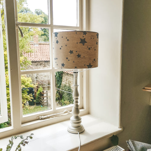 F&B Star Print Lampshade - Shabby Chic rustic style country home decor by F&B - Perfect Nursery and play room decor