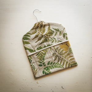 Woodland Leaf Print Peg Bag