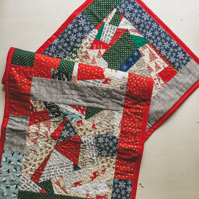Large Patchwork Christmas Table Runner
