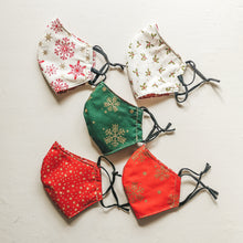 Christmas Festive Face Masks - Masks for the season of goodwill! Featuring snowflakes, stars and holly the perfect christmas accessory.
