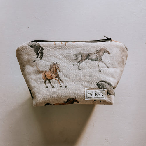 F&B Handmade Watercolour Horse Wash Bag - the perfect gift for horse lovers!