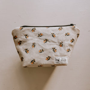 Bee Print Wash Bag/Make-Up Bag