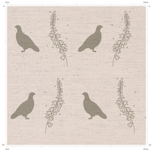 Letter in Grouse & Heather Print