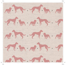 Blush Rose Lurcher and Cocker Spaniel Print - Designed by F&B