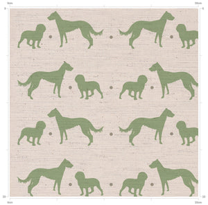 F&B - Working Dogs Print - Cocker Spaniel and Lurcher Print Fabric - Designed by F&B in Yorkshire