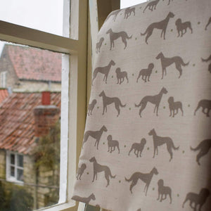 Lindt & Buck Print Fabric - Designed by F&B - Lurcher and Cocker Spaniel - Working Dogs Print Fabric - Inspired by Country Living