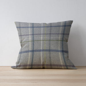 Fawn Multicheck Cushion by F&B - Abraham Moon Fabric - Handmade in Yorkshire - Colourful Country Cushions