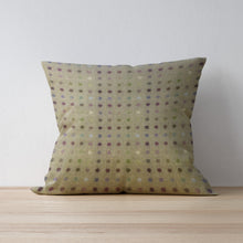 Multispot Lime Cushion - Abraham Moon - Bright Cushions Handmade in Yorkshire - F&B