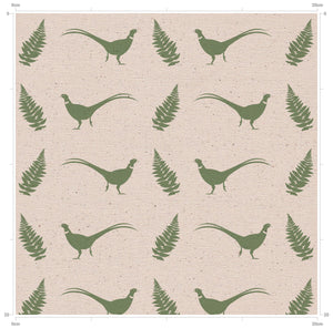 Pheasant & Fern Hovingham Green - Country inspired fabric from Yorkshire by F&B