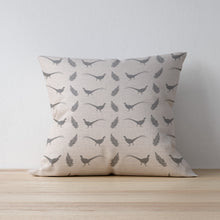 Manor Grey Pheasant and Fern Leaf Print Cushion - Country Living - Country Home Decor - Shabby Chic Country Style