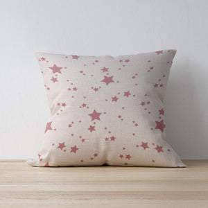 Pink Star Cushion - Designed and made by F&B in Yorkshire - Country home ware - country living - vintage and shabby chic style cushions