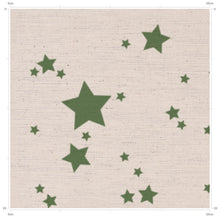 Hovingham Green Star Print Fabric designed in Yorkshire by F&B