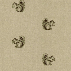 Pen Illustration Squirrel Print Fabric