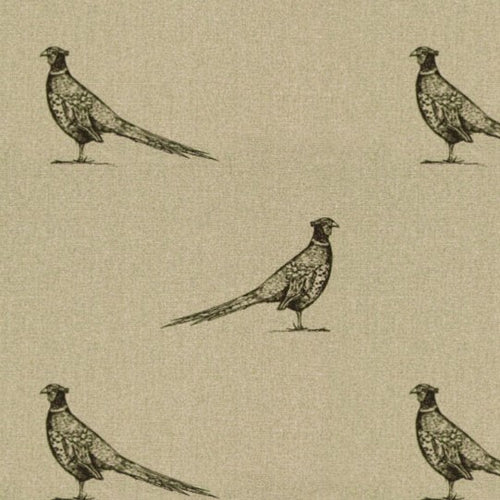 Pen Illustration Pheasant Print Fabric