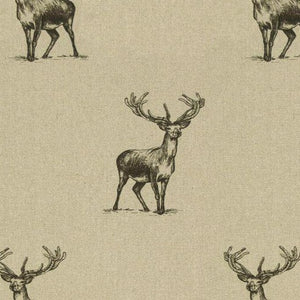 Pen Illustration Stag Print Fabric