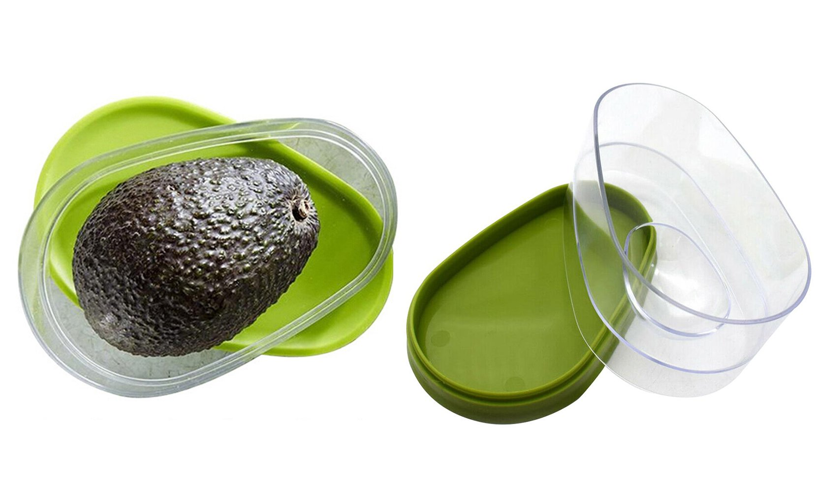 Snap-On Avocado Food  Saver Storage Container