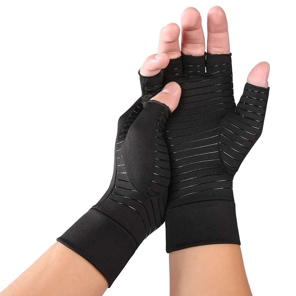 Copper Infused Therapeutic Compression Gloves For Men And Women (1-Pair)