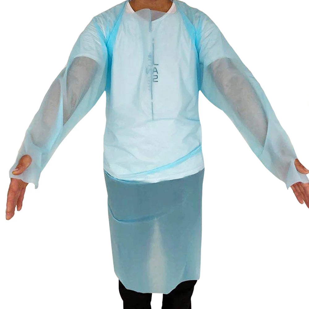 10-Pack: Disposable Protective Full Body Gown With Closed Back Design (Level 3)