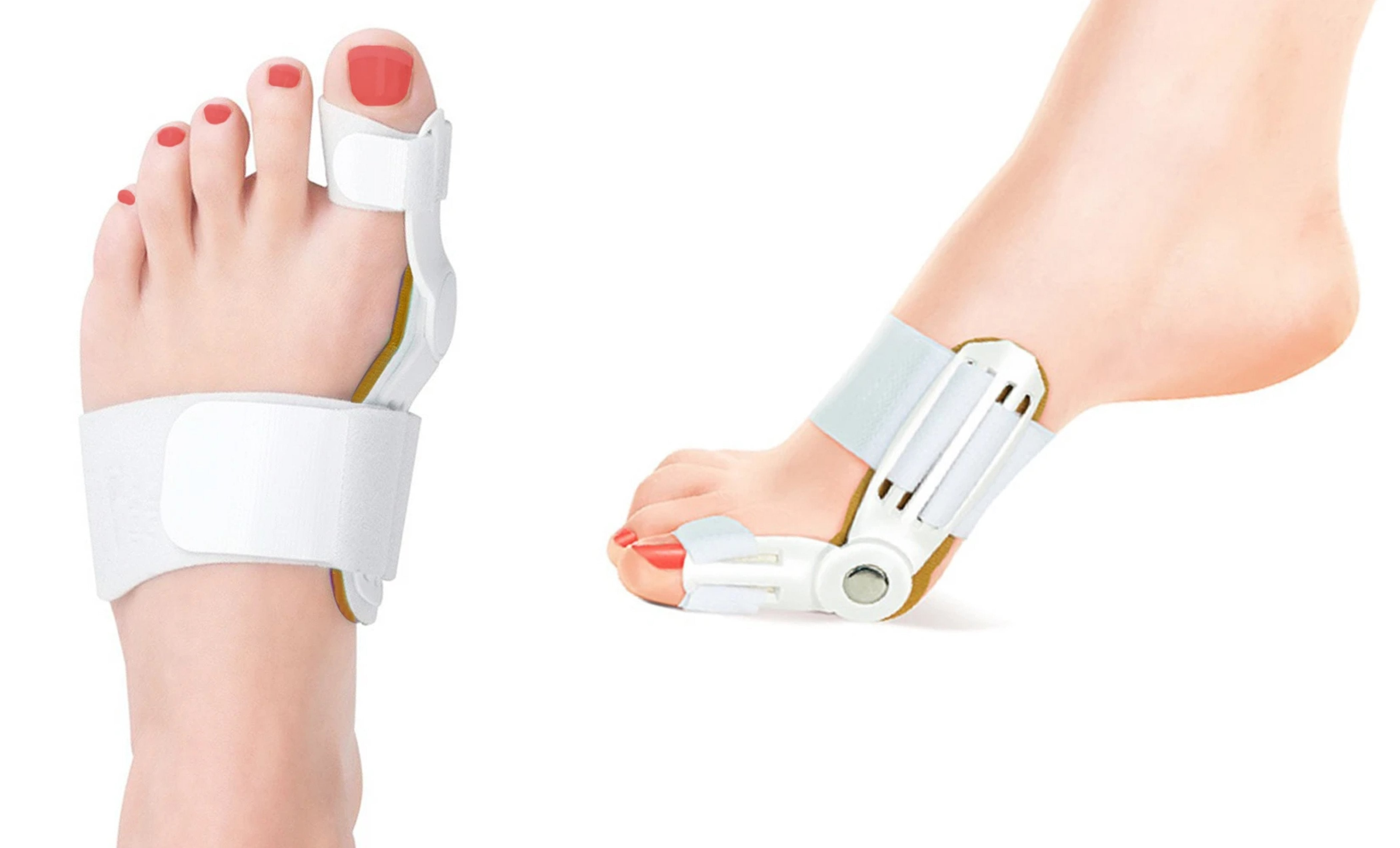 Medical-Grade Adjustable Bunion Toe Splint With Hinge (1-Pair)