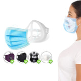 12-Pack: 3D Support Colorful Face Mask Bracket For Comfortable Breathing