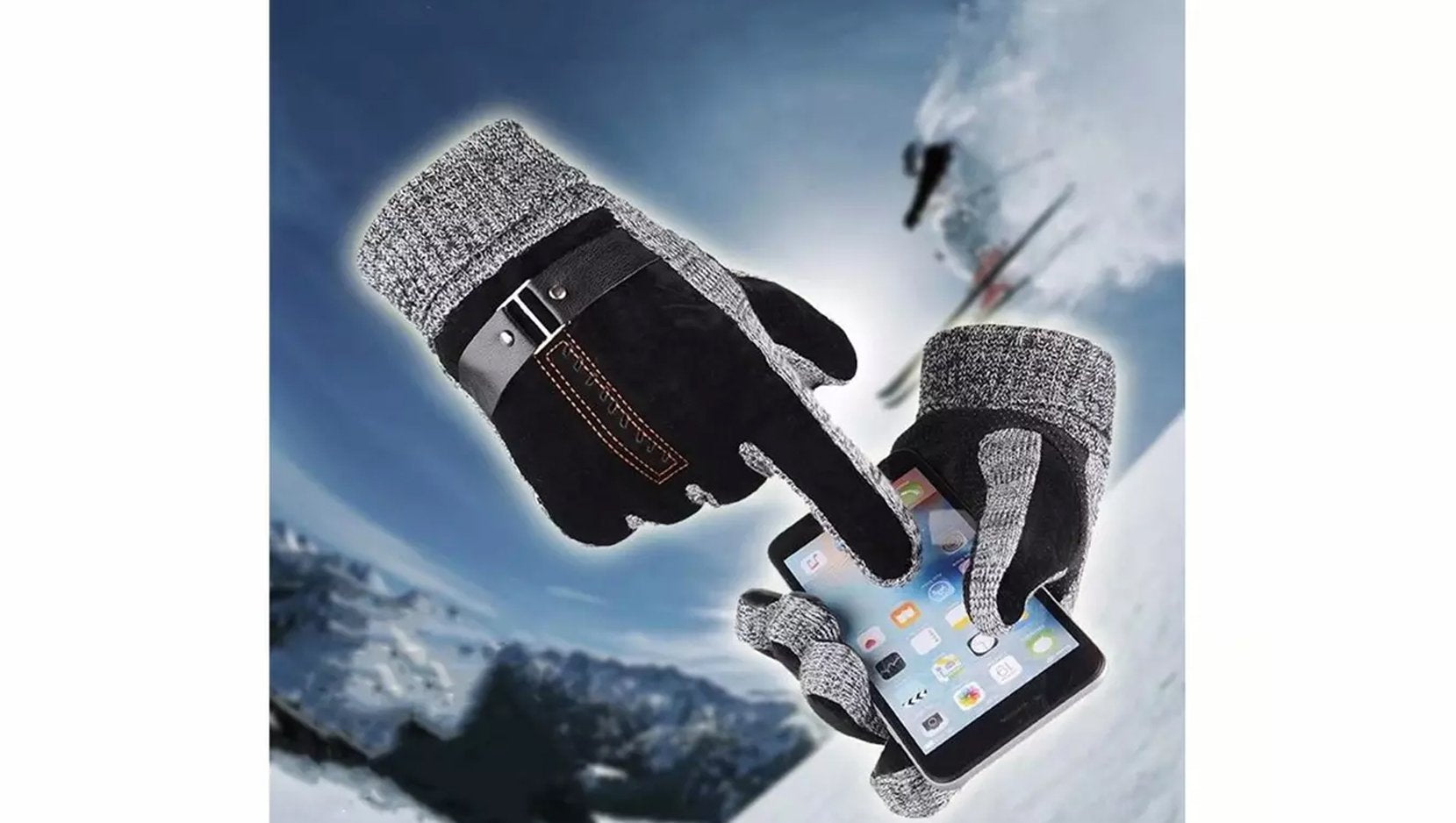 Men's Anti-Skid Windproof Winter Thermal Gloves