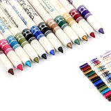 Professional Vivid Multi-Color Eye And Lip Liner Pencil Set (12 Or 24-Pack)