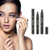 4D Voluminous Silk Fiber Mascara With Waterproof Eyeliner Stamp Kit