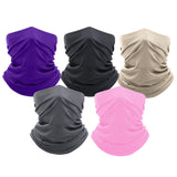 5-Pack: Washable And Reusable Moisture-Wicking Face Mask Bandana & Neck Gaiter