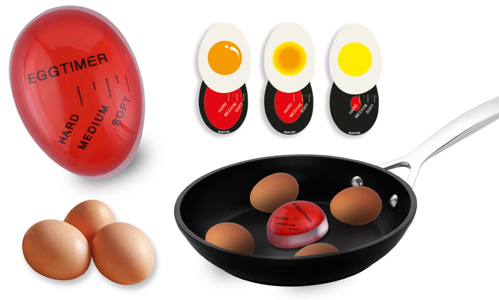 Heat Sensitive Color Changing Perfect Egg Timer for Soft and Hard Boiled Eggs