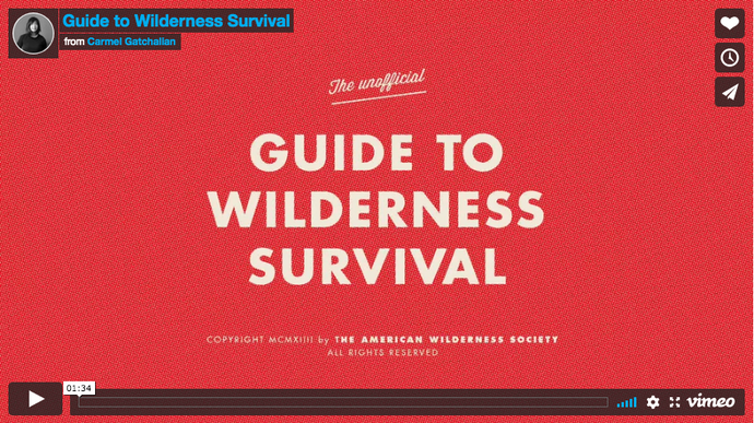 Super little video from the American Wilderness Society.