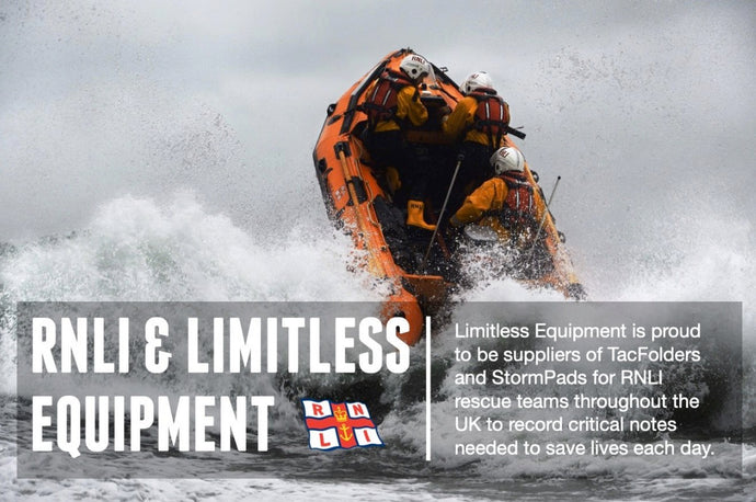 RNLI using TacFolder waterproof note system for operations