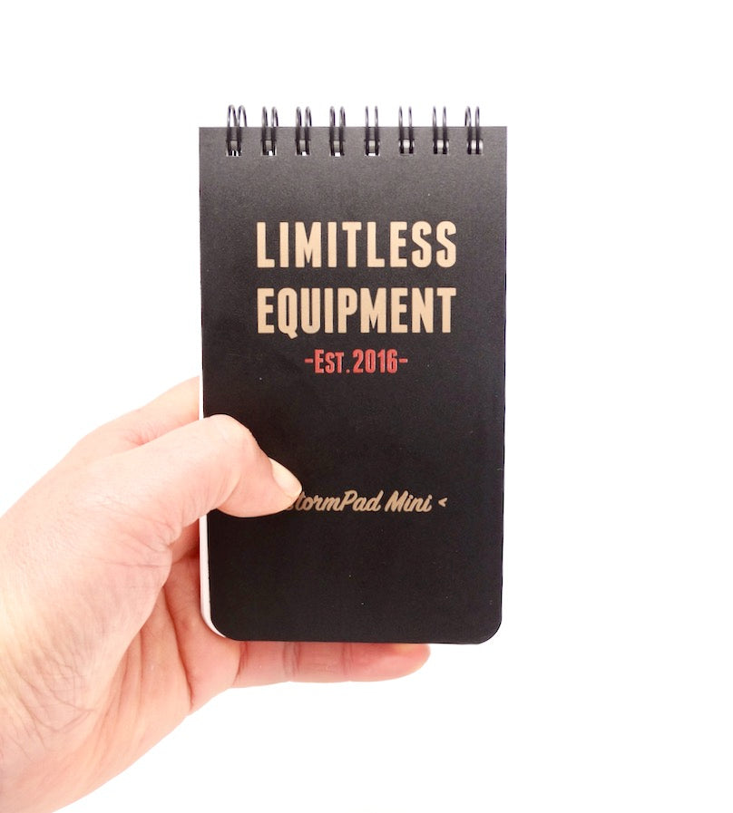 "Tactical StormPad Mini (3"" x 5.5"") pocket sized weatherproof pad - Limitless Equipment"