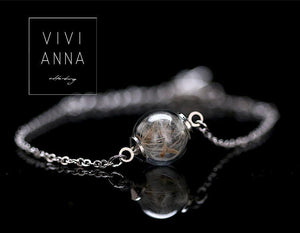 Silber Armband mit Pusteblume - a049