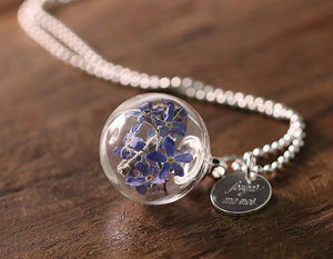 forget me not- 925er Kette Vergissmeinnicht k425