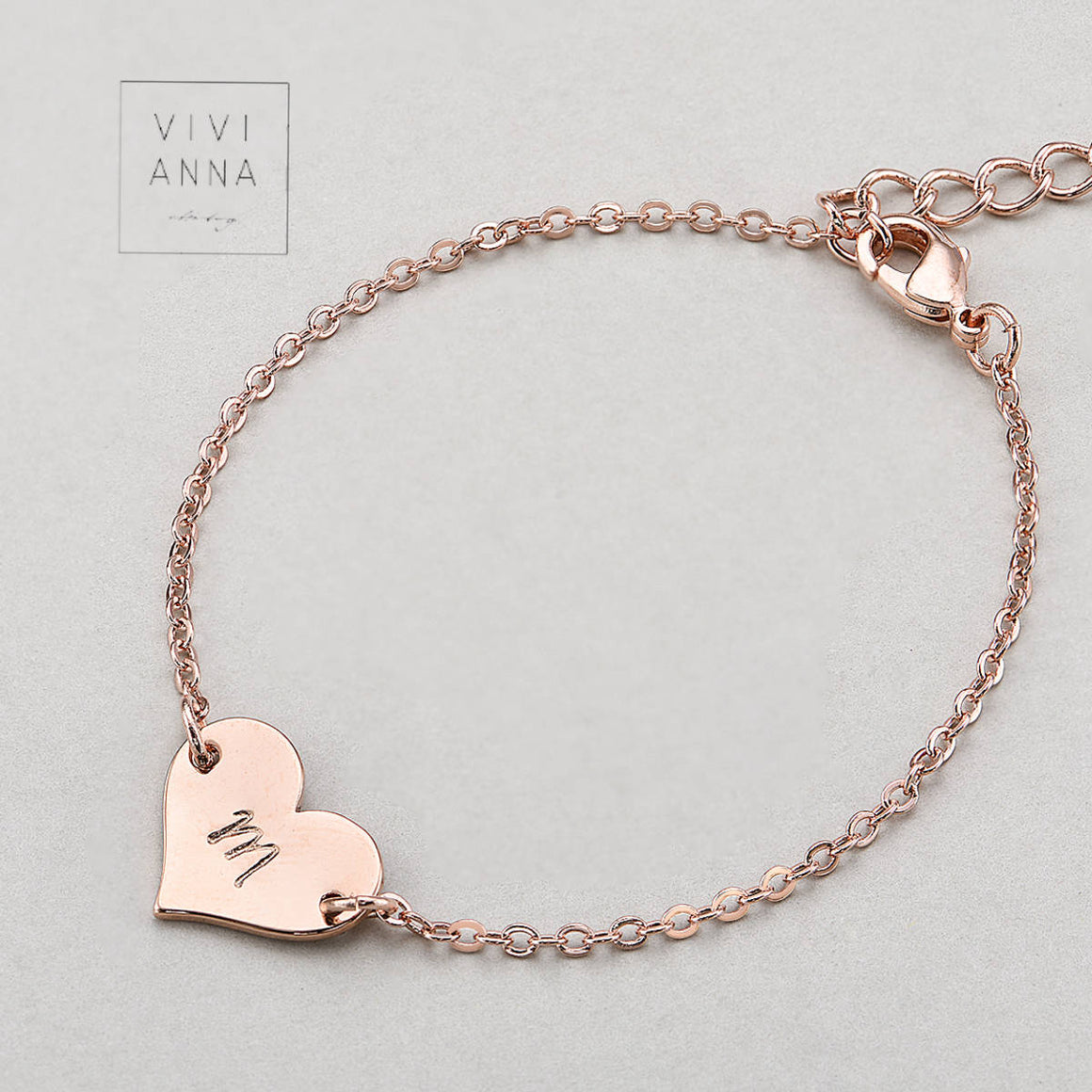 Personalisierte Armband Armkette rose gold PB009