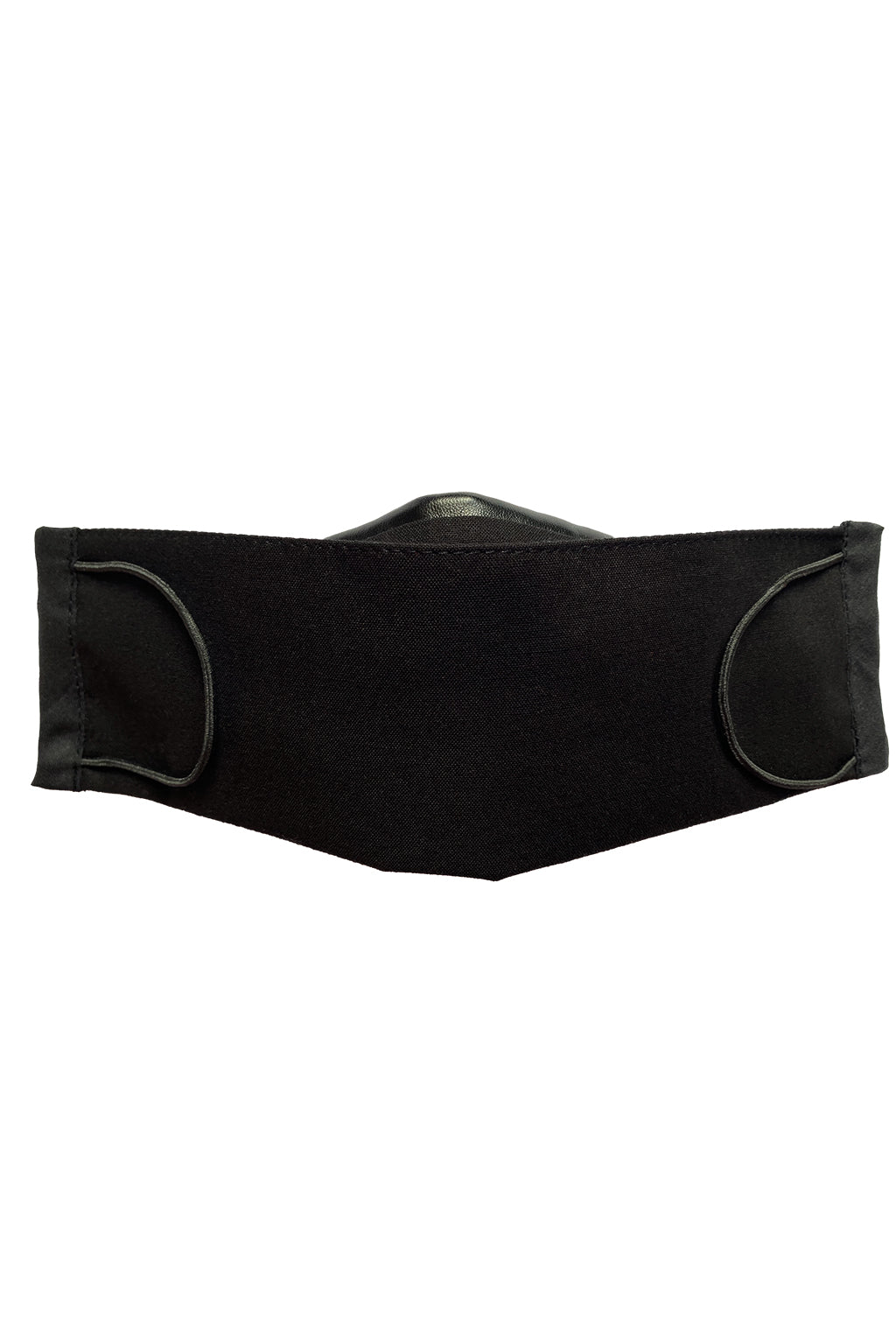 Leatherette Detail Face Mask