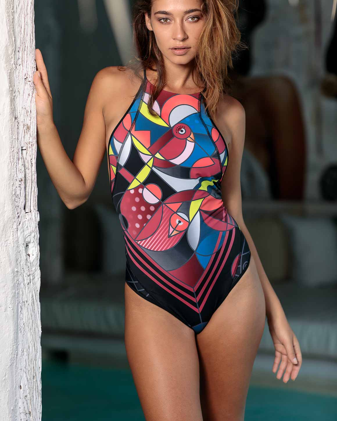 Solar Eclipse - Chirping Bird One Piece Swimsuit