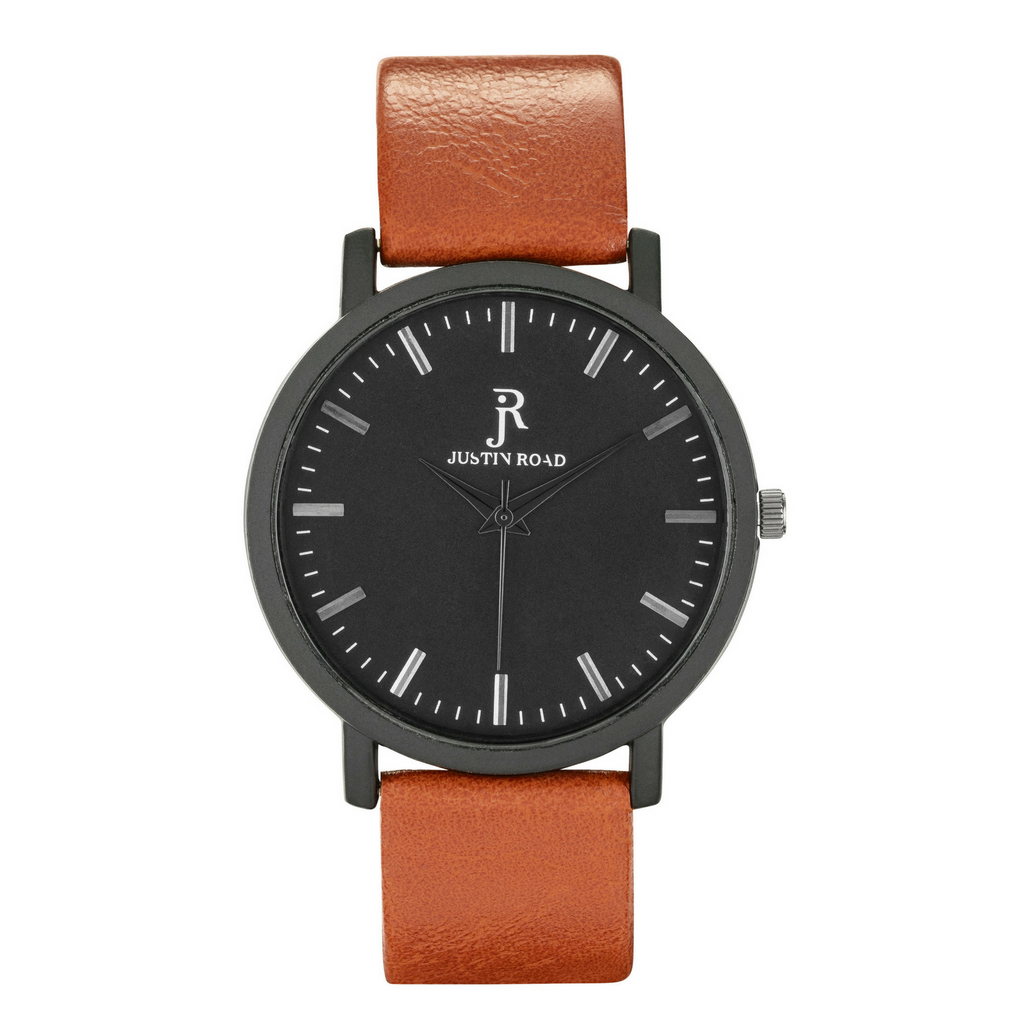 Black Tan Watch Leather Band