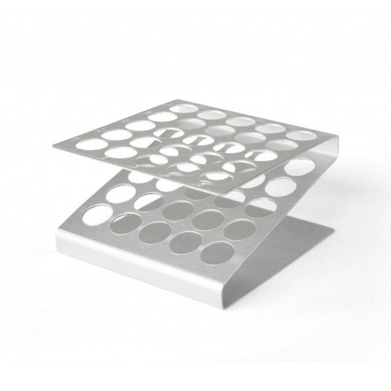 Aluminium Holder til 25 stk. reagensglas, max. 16 mm