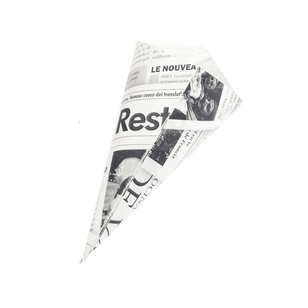 Aviskræmmerhuse medium, 200 stk.  /  Paper Cone Newspaper M 200 pcs.
