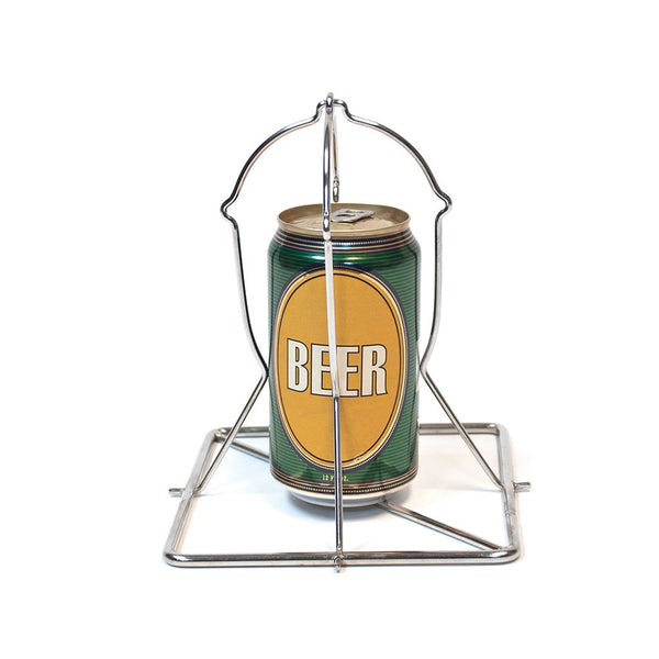 Big Green Egg Folding Stainless Beer Can Chicken Roaster