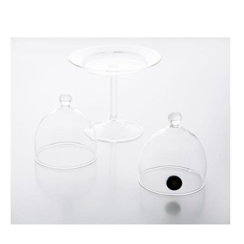 KIT Rubi (Cover Ø 9 cm And Glass Plate) With Valve 6 pcs.